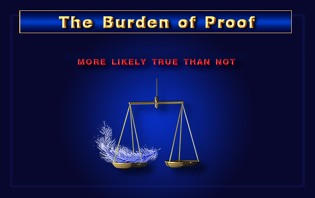 meaning of burden of proof and standard of proof essay